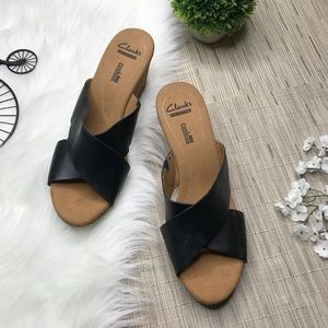 Clarks Collection Cork Wedge Sandal